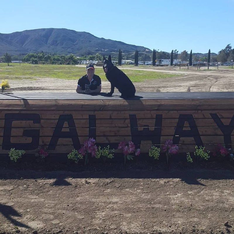 Sara Sellmer and Shelby at Galway Downs